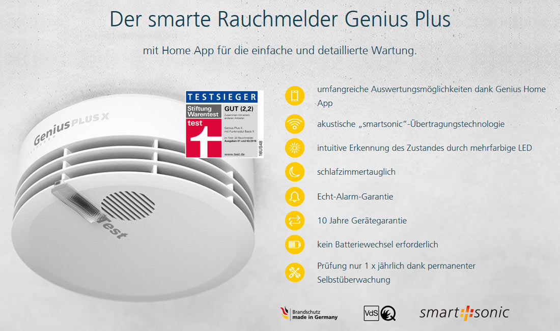 Rauchmelder Genius Plus X