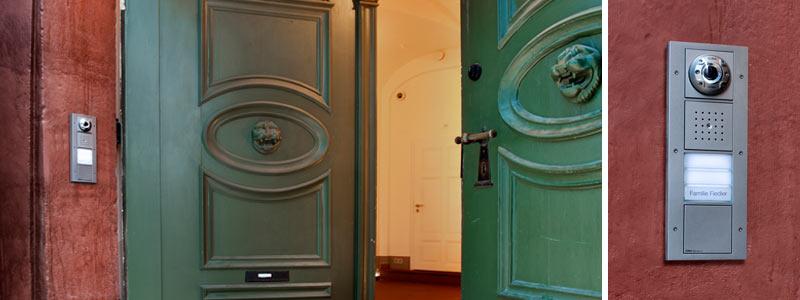 Gira-Türsprech- und Videoanlagen in Altbau