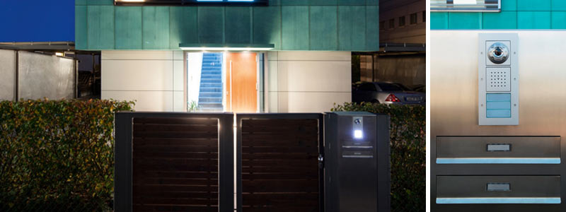 Gira Türsprech und Videoanlagen in modernem Haus