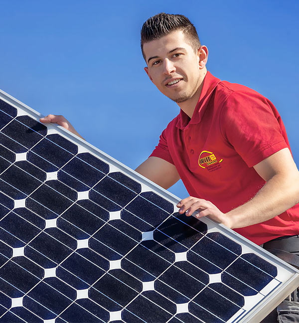 Montage Sonnenkollektor